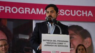 """Palabras del secretario de Desarrollo Social de la CDMX, Alejandro Piña Medina, durante la entrega del Programa """"Escucha CDMX"""", en la Alcaldía de Benito Juárez"""